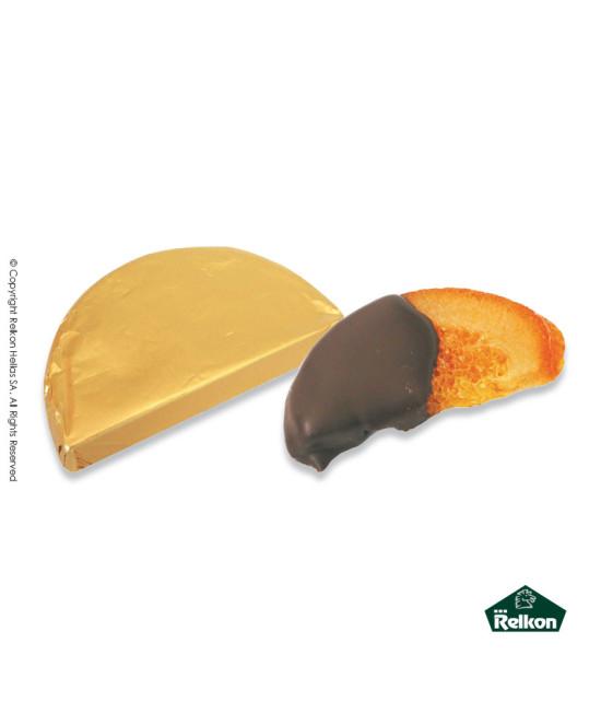 Φέτα Πορτοκάλι (Σοκολάτα Μπίττερ, φέτα πορτοκάλι, μάρζιπαν) 1kg