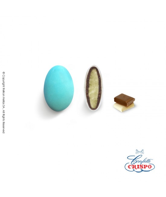 Κουφέτα Crispo Ciocopassion (Διπλή Σοκολάτα) Mini Γαλάζιο 1kg