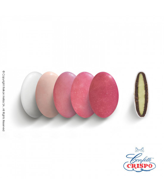 Κουφέτα Crispo Ciocopassion (Διπλή Σοκολάτα) Selection Ροζ 1kg