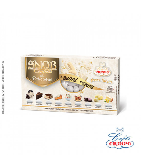 Κουφέτα Crispo Snob (Αμύγδαλο & Σοκολάτα) Πολύχρωμο 500g