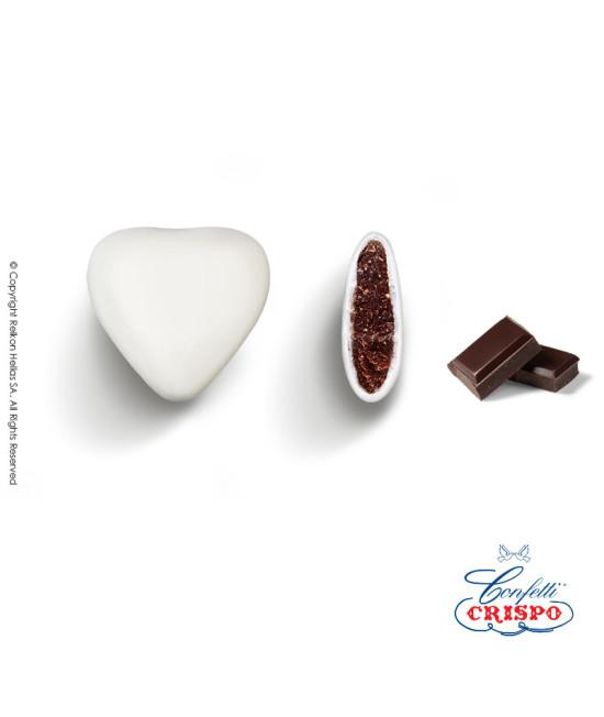 Κουφέτα Crispo Καρδία (Σοκολάτα υγείας) Λευκό 1kg