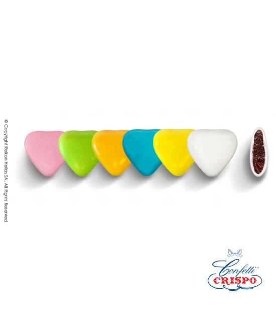 Κουφέτα Crispo Καρδία (Σοκολάτα υγείας) Πολύχρωμο 1kg