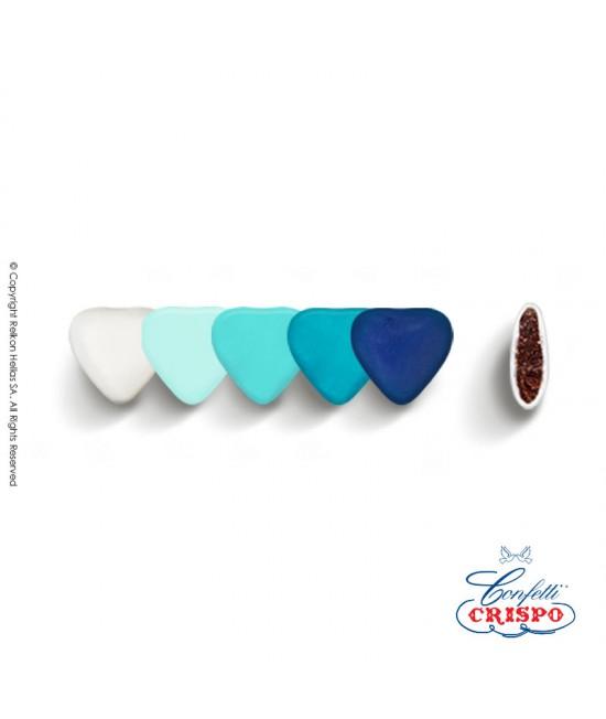 Κουφέτα Crispo Αποχρώσεις (Σοκολάτας υγείας) Mini Καρδιές Μπλε 500g