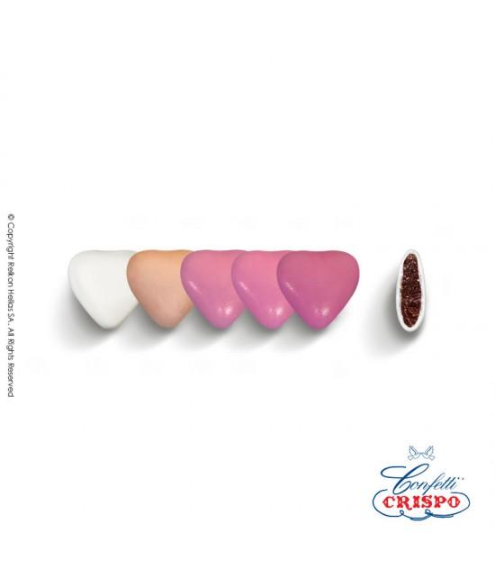 Κουφέτα Crispo Αποχρώσεις (Σοκολάτας υγείας) Mini Καρδιές Μωβ 500g