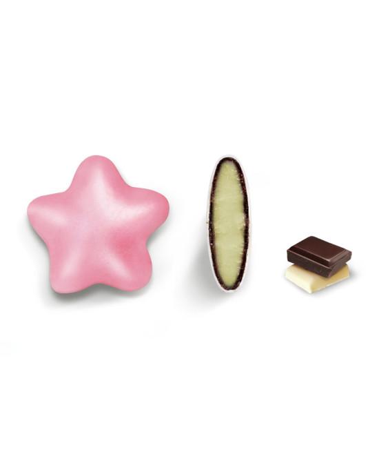 Κουφέτα Crispo Ciocostar (Διπλή Σοκολάτα) Ροζ Περλέ 500g