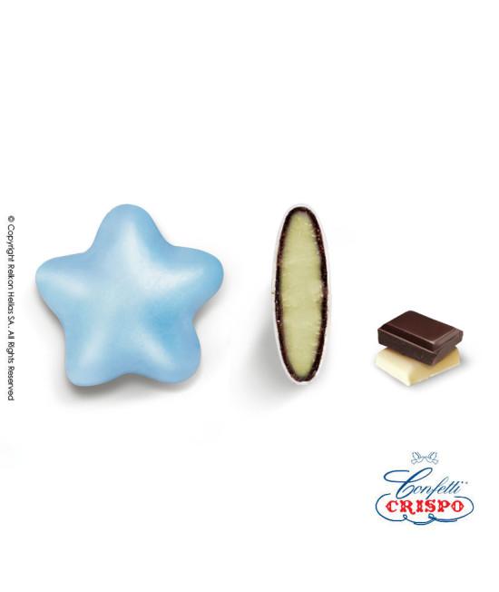 Κουφέτα Crispo Ciocostar (Διπλή Σοκολάτα) Μπλε Περλέ 500g