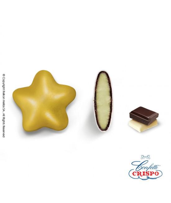 Κουφέτα Crispo Ciocostar (Διπλή Σοκολάτα) Χρυσό Περλέ 500g