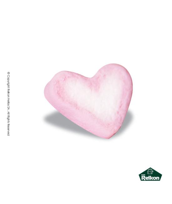 Marshmallow Καρδιά Λευκό - Ροζ 1kg