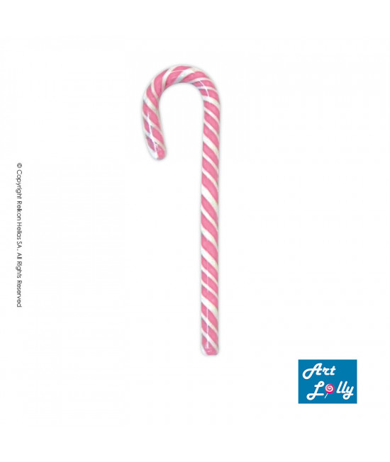 Γλειφιτζούρια Μπαστουνάκια  Άσπρο-  Ροζ 14g