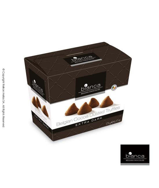 Βέλγικες Τρούφες κακάο με μαύρη σοκολάτα.
