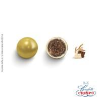 Κουφέτα Crispo Krixi (Δημητριακά & Διπλή Σοκολάτα) Περλέ Χρυσό 900g