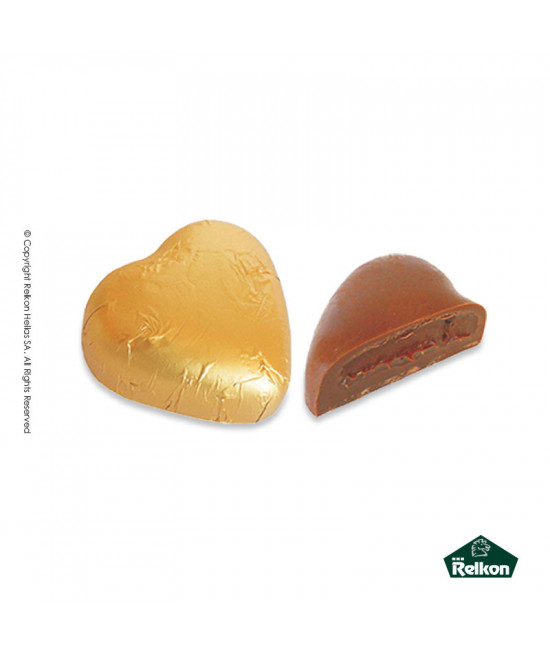 Milk Chocolate Heart Crispy (biscuits praline,biscuit pieces) 1kg