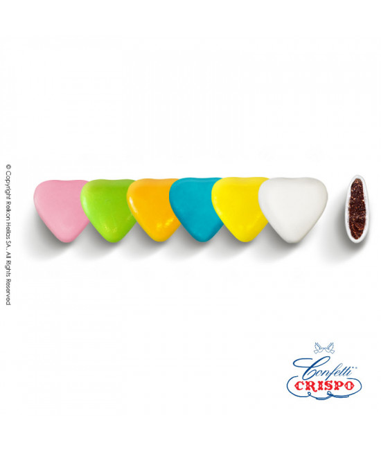 Confetti Crispo Heart (Bitter Chocolate) Multicolored 1kg