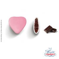 Κουφέτα Crispo Καρδία (Σοκολάτα υγείας) Ροζ 1kg
