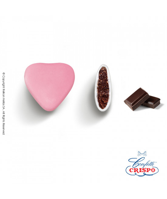 Confetti Crispo Heart (Bitter Chocolate) Rose 1kg