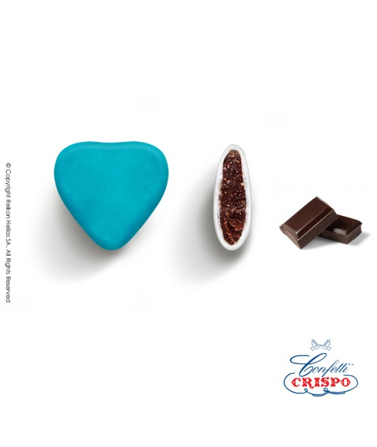 Confetti Crispo Heart (Bitter Chocolate) Light Blue 1kg
