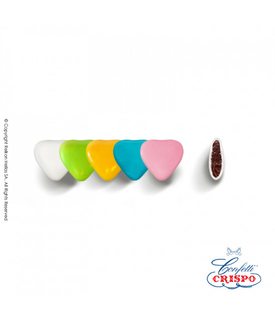 Confetti Crispo Heart Mini (Bitter Chocolate) Multicolored 1kg
