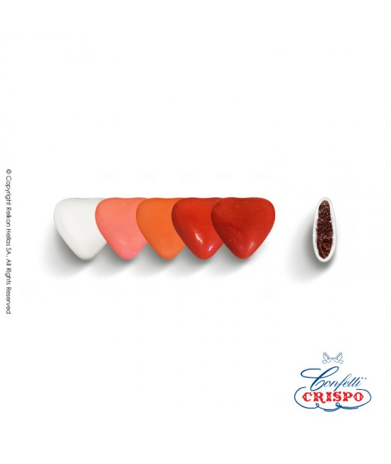Confetti Crispo Selection (Bitter Chocolate) Mini Hearts Red 500g