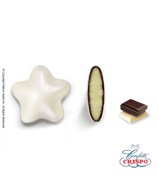 Κουφέτα Crispo Ciocostar (Διπλή Σοκολάτα) Λευκό Περλέ 500g