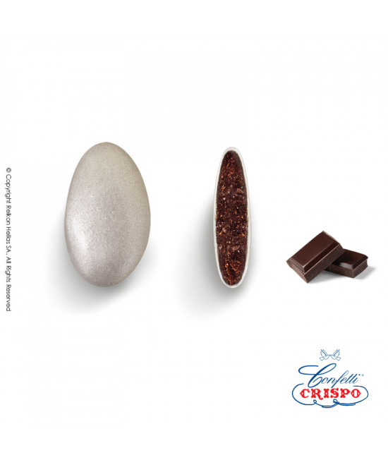 Κουφέτα Crispo Περλέ (Σοκολάτας υγείας) Ασημί 500g