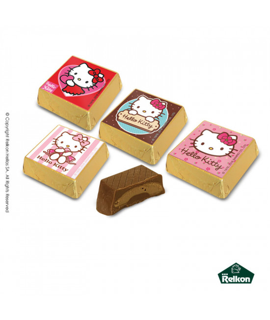 Hello Kitty Square (Milk chocolate, hazelnut praline) 1kg