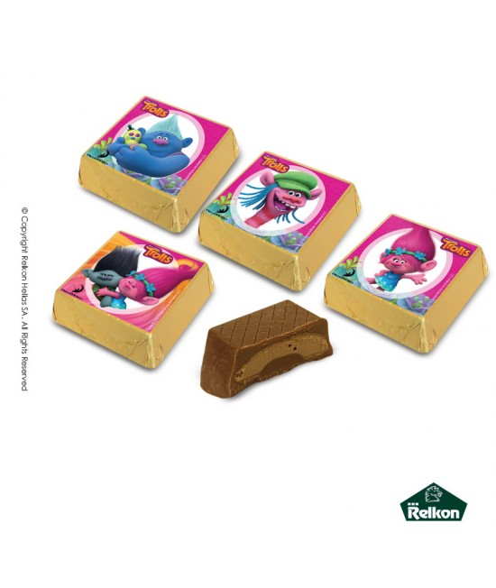 Trolls Square (Milk chocolate, hazelnut praline) 1kg