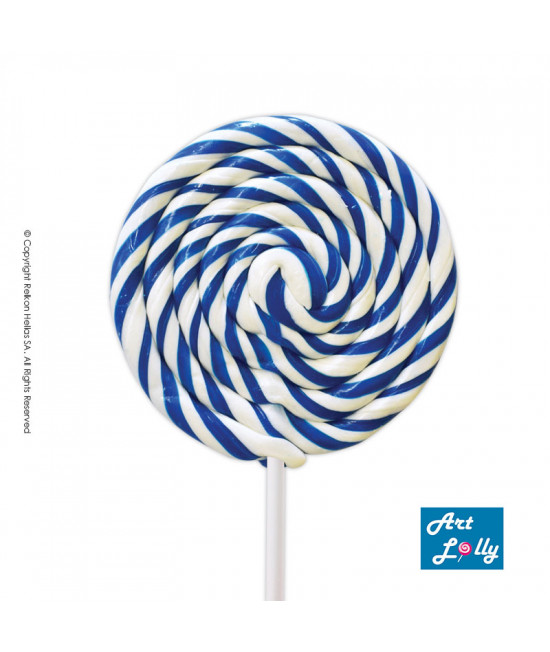 Lollipop Spiral White - Blue 100g