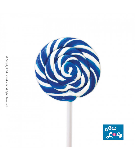 Lollipop Spiral Mini White - Blue 40g