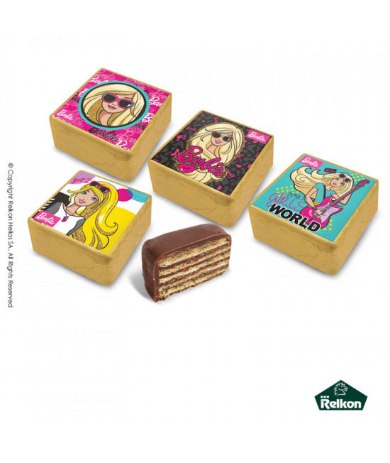 Barbie wafer (chocolate wafer filled with hazelnut praline) 1kg