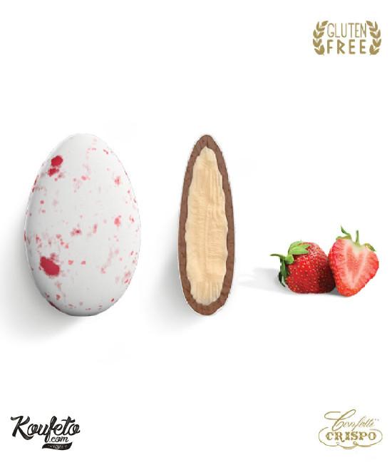 Κουφέτα Crispo Ciocopassion (Διπλή Σοκολάτα) Splash Φράουλα 1kg