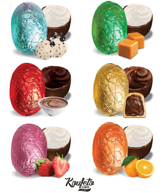 Wrapped Multicolor Egg with 6 flavors