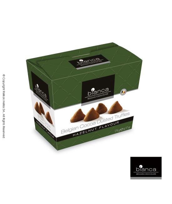Belgian cacao truffles withhazelnut flavor