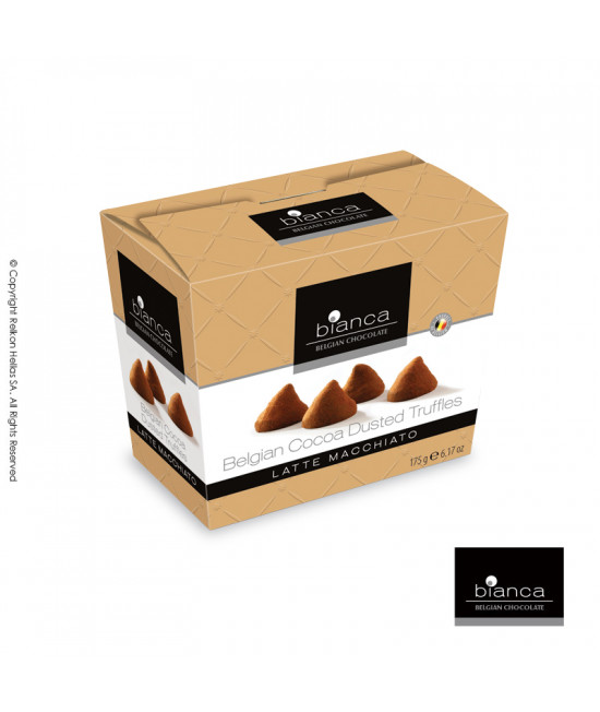 Belgian cacao truffles with Latte Macchiatto  flavor